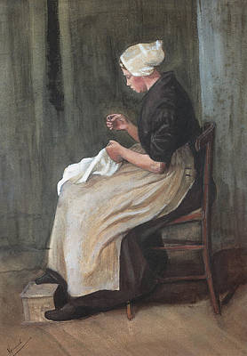 Painting - Woman Sewing   by Vincent Van Gogh