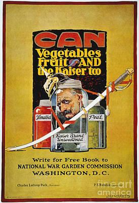 Photograph - World War I: U.s. Poster by Granger