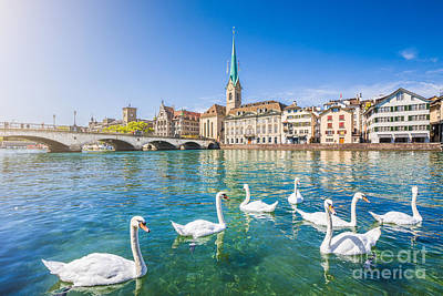 Limmat Photograph - Zurich by JR Photography