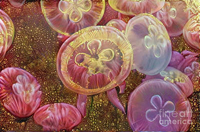 Abstract Jellyfish Art Print