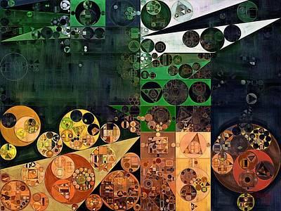 Fanciful Digital Art - Abstract Painting - Dark Jungle Green by Vitaliy Gladkiy