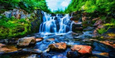 Summer Painting - Art Landscape Nature  by Margaret J Rocha