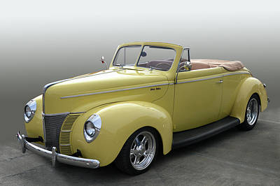 Photograph - 40 Ford Deluxe Cv by Bill Dutting