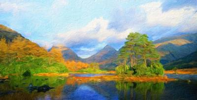 Yellow Painting - Landscape Painted by Margaret J Rocha