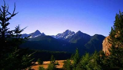 Mountains Digital Art - Landscape Pictures by Victoria Landscapes