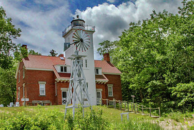 Photograph - 40 Mile Point Lighthouse by Bill Gallagher