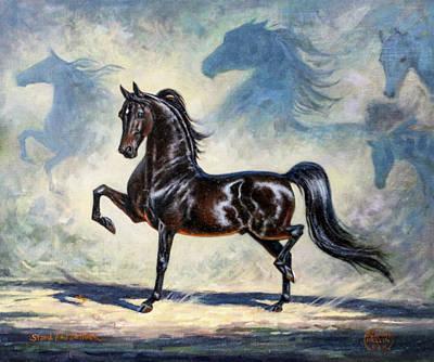 Morgan Horse Painting - #40 - Morgan Stallion by Jeanne Mellin Herrick
