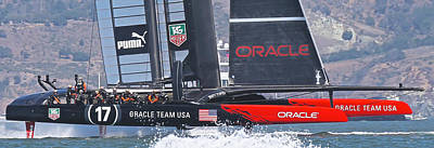 Sausalito Photograph - Oracle America's Cup by Steven Lapkin