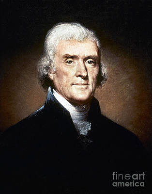 Thomas Jefferson (1743-1826) Art Print by Granger