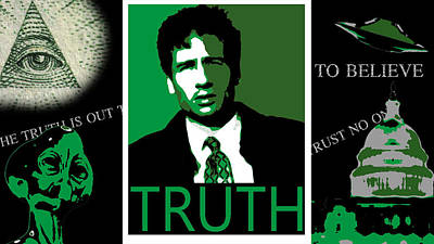 The X Files Digital Art - 40014 The X Files by Anne Pool