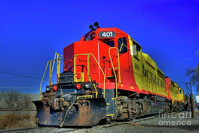 Photograph - Rock And Rail Engine 401 by Tony Baca
