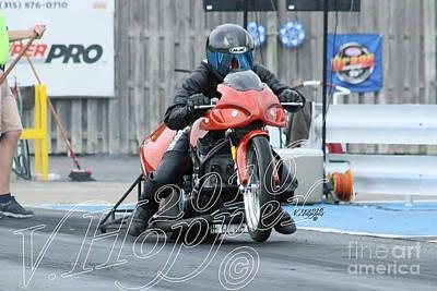 Wall Art - Photograph - 4054 05-29-16 Esta Safety Park Drag Racing by Vicki Hopper