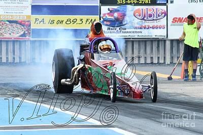 Wall Art - Photograph - 4070 05-29-16 Esta Safety Park Drag Racing by Vicki Hopper