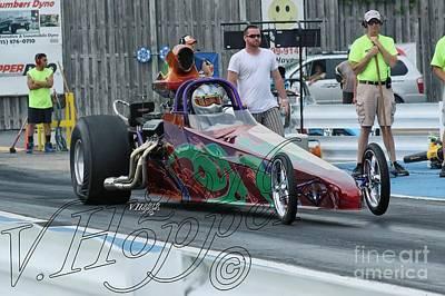 Wall Art - Photograph - 4078 05-29-16 Esta Safety Park Drag Racing by Vicki Hopper