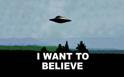The X Files Digital Art - 40994 The X Files I Want To Believe Poster by Anne Pool