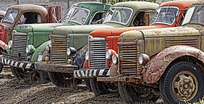 Photograph - 40's International H D Trucks by Wes and Dotty Weber