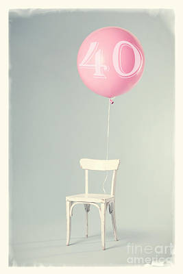 40th Birthday Art Print by Edward Fielding