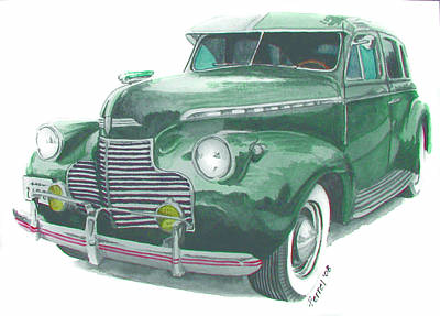 41 Chevy Art Print by Ferrel Cordle