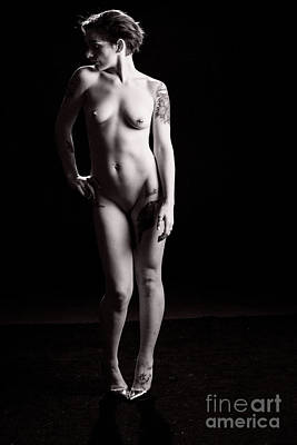 Erotic Photograph - Katy Female Nude Fine Art Print Or Picture In Black And White Se by Kendree Miller