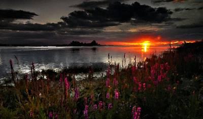 Clouds Digital Art - Lake Landscape by Landscape Art