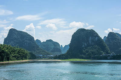Photograph - Lijiang River And Karst Mountains Scenery by Carl Ning