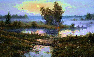 Sunrise Painting - Nature Landscape Pictures by Edna Wallen
