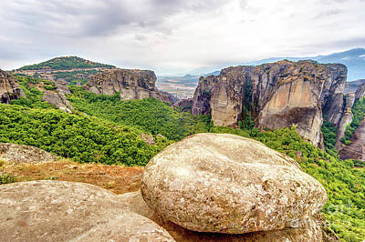 Mannequin Dresses - Meteora rock formations and monasteries by Nikolay Stoimenov