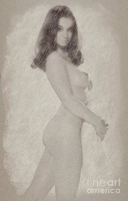 Burlesque Drawing - Vintage Pinup By Frank Falcon by Frank Falcon