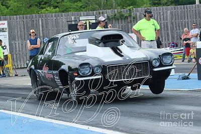 Wall Art - Photograph - 4110 05-29-16 Esta Safety Park Drag Racing by Vicki Hopper