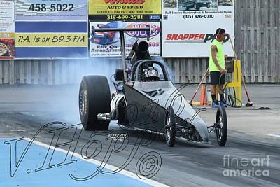 Wall Art - Photograph - 4114 05-29-16 Esta Safety Park Drag Racing by Vicki Hopper