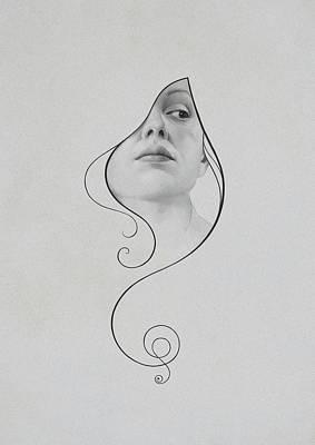 Girl Drawing - 413 by Diego Fernandez