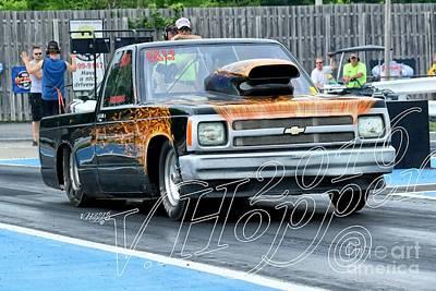 Wall Art - Photograph - 4150 05-29-16 Esta Safety Park Drag Racing by Vicki Hopper