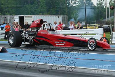 Wall Art - Photograph - 4151 05-29-16 Esta Safety Park Drag Racing by Vicki Hopper