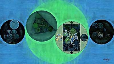 Green Geometry Art Digital Art - Abstract Painting - Dark Jungle Green by Vitaliy Gladkiy