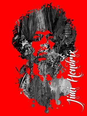 Jimi Hendrix Collection Art Print by Marvin Blaine
