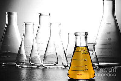 Fluid Photograph - Laboratory Equipment In Science Research Lab by Olivier Le Queinec