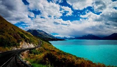 Blue Digital Art - Landscape Wall Art by Victoria Landscapes