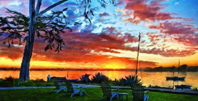 Bob Painting - Nature Landscape Work by Margaret J Rocha