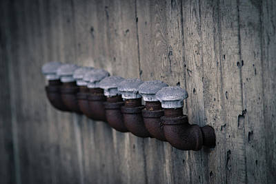 Photograph - Iron Pipes by Vintage Pix
