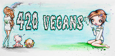 Painting - 420 Vegans by Lizzy Love