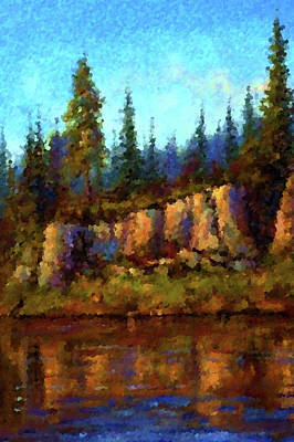Oil Painting - Nature Landscape Pictures by Edna Wallen