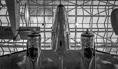 4242- Air And Space Museum Black And White Art Print by David Lange