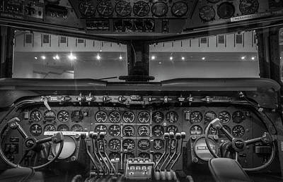 4245- Air And Space Museum Black And White Art Print by David Lange