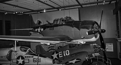 4254- Air And Space Museum Black And White Art Print by David Lange
