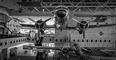 4267- Air And Space Museum Black And White Art Print by David Lange