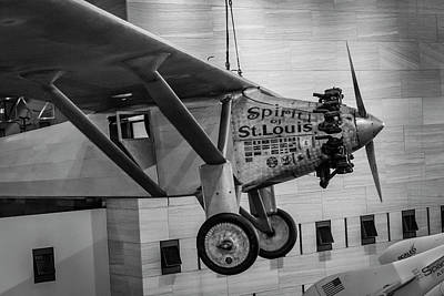 4273- Air And Space Museum Black And White Art Print by David Lange