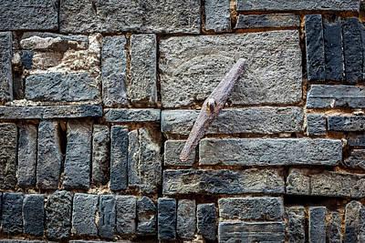 Typographic World Royalty Free Images - 4273- Brick Wall Royalty-Free Image by David Lange
