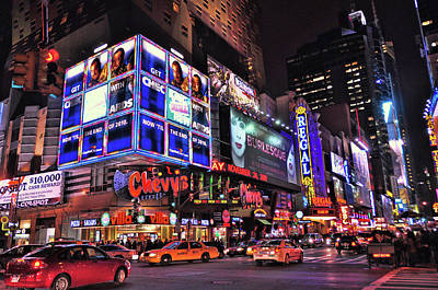 Photograph - 42nd Street And 8th Avenue by Allen Beatty