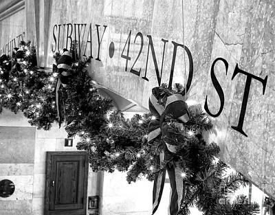 Photograph - 42nd Street Subway Christmas New York City by John Rizzuto