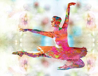 Dancing Digital Art - Dance by Elena Kosvincheva